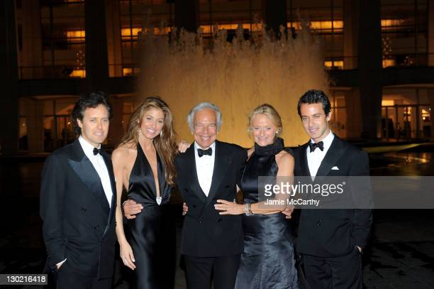 David Lauren, Dylan Lauren, Designer Ralph Lauren, Ricky Lauren and Andrew Lauren attend an evening with Ralph Lauren hosted by Oprah Winfrey and...