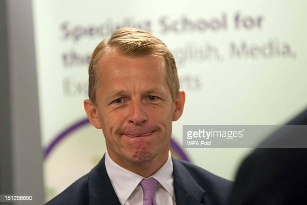 David Laws is seen during a visit school to Mulberry School for Girls in Tower Hamlets on Septemebr 5 2012 in London England Two years after Mr Laws...