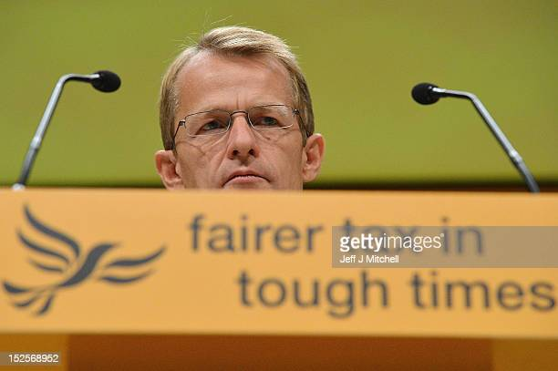 David Laws Schools and Education Minister addresses the Liberal Democrats' Party Conference on September 22 2012 in Brighton England As the Liberal...