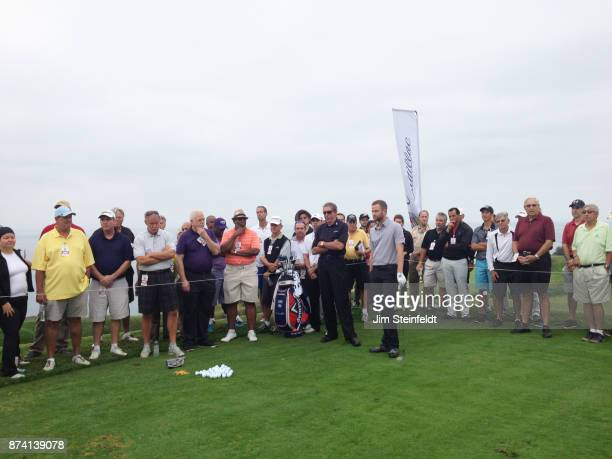 David Leadbetter gives a golf lesson at the Trump National Golf Club in Rancho Palos Verdes California on October 10 2014