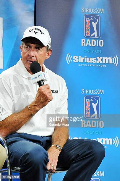 David Leadbetter speaks during the 'SiriusXM Teachers Town Hall' at the PGA Merchandise Show 2015 at Orange County Convention Center on January 22...