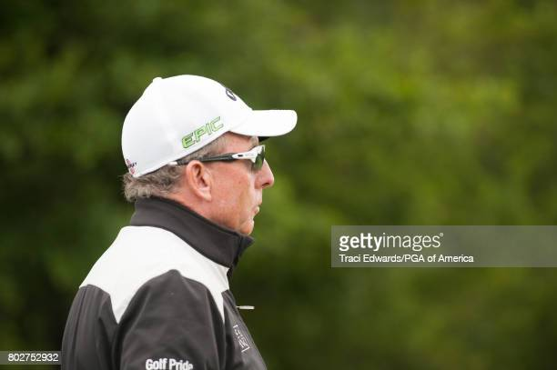 David Leadbetter watches Michelle Wie's swing on the practice range during a Practice Round for the 2017 KPMG Women's PGA Championship held at...