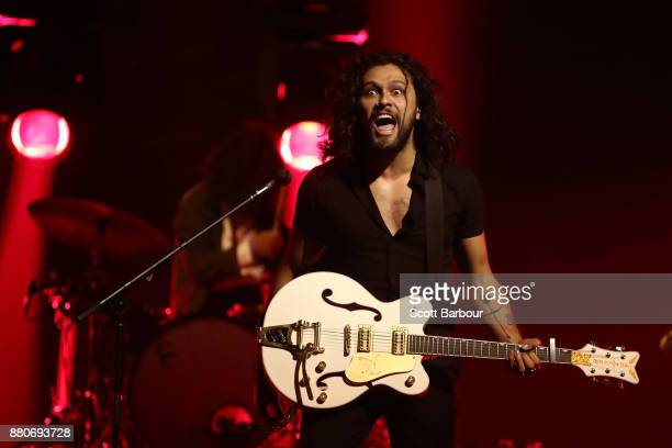 David Le'aupepe of Gang of Youths performs on stage during the 31st Annual ARIA Awards 2017 at The Star on November 28 2017 in Sydney Australia