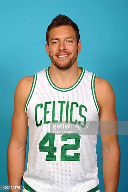 David Lee of the Boston Celtics poses for media day on September 25 2015 at the Boston Celtics Training Center in Waltham Massachusetts NOTE TO USER...