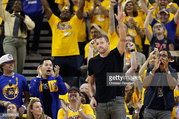 David Lee of the Dallas Mavericks attends game one of the NBA Western Conference Finals between the Oklahoma City Thunder and the Golden State...