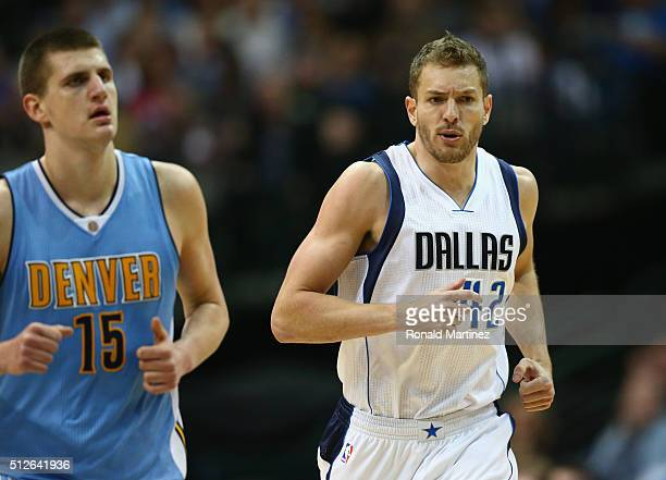 David Lee of the Dallas Mavericks during the second half at American Airlines Center on February 26 2016 in Dallas Texas NOTE TO USER User expressly...