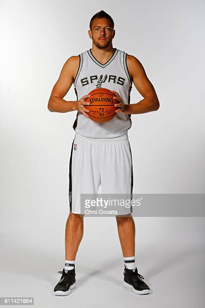 David Lee of the San Antonio Spurs poses for a portrait during Media Day at the Spurs Training Facility on September 26 2016 in San Antonio Texas...
