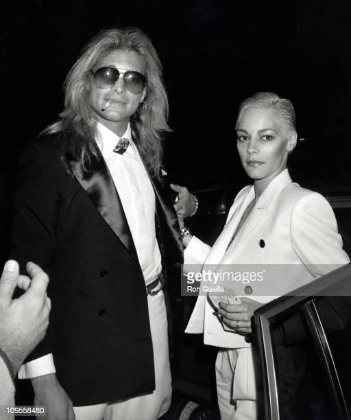 David Lee Roth and Date during Wedding of Eddie Van Halen and Valerie Bertinelli at St Paul's Catholic Church in Westwood California United States