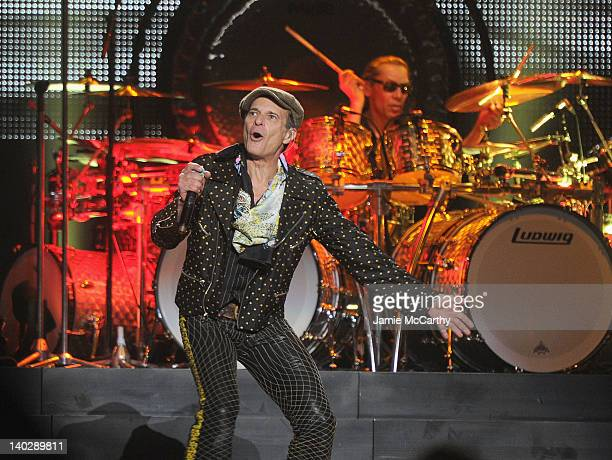 David Lee Roth and Eddie Alex Halen of Van Halen perform at Madison Square Garden on March 1 2012 in New York City