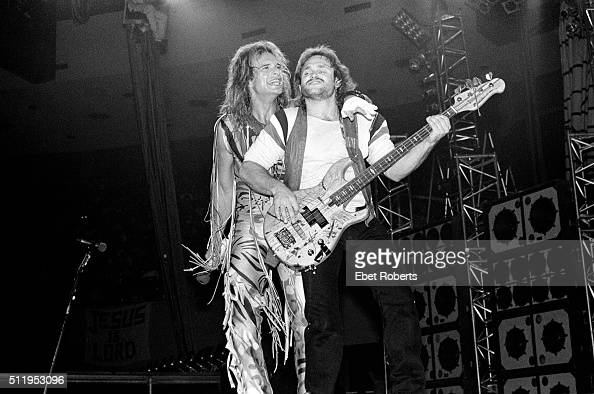 David Lee Roth and Michael Anthony performing with Van
