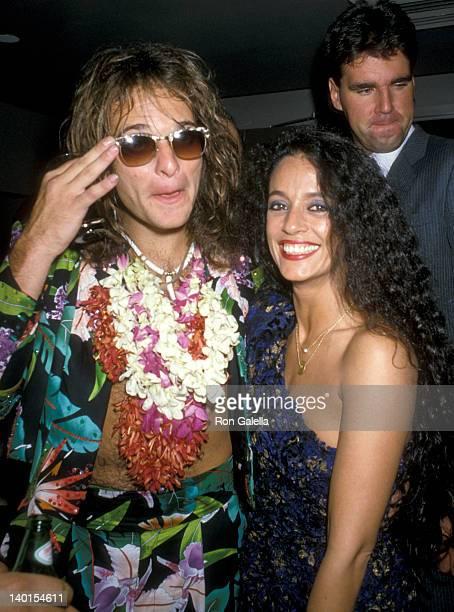 David Lee Roth and Sonia Braga at the 2nd Annual MTV Video Music Awards Radio City Music Hall New York City