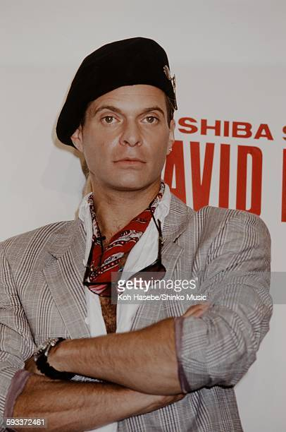 David Lee Roth at press conference on their arrival Tokyo June 1978