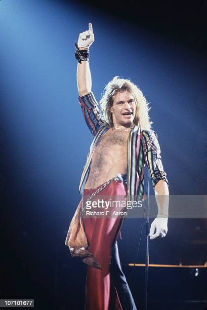 David Lee Roth from Van Halen performs live on stage at the Palladium in New York on May 12 1979