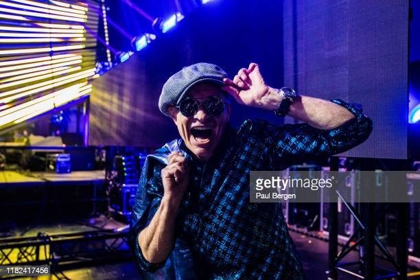 David Lee Roth lead singer of American hardrock band Van Halen portrait at Pinkpop festival before performing 'Jump' with Dutch dj Armin van Buuren...
