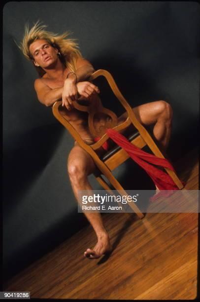 David Lee Roth lead singer with Van Halen posed in New York in 1981