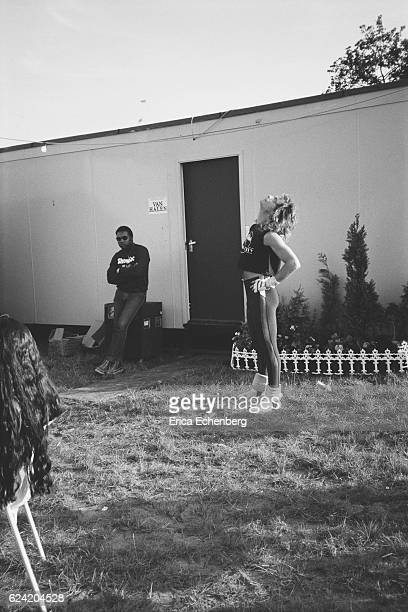 David Lee Roth of Van Halen backstage at Monsters Of Rock festival Donington Park Leicestershire United Kingdom August 18th 1984