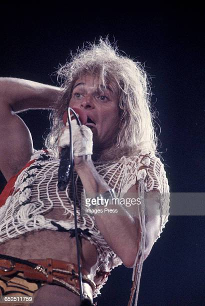 David Lee Roth of Van Halen performing at the US Festival partially financed by Steve Wozniak circa 1983 in Devore California