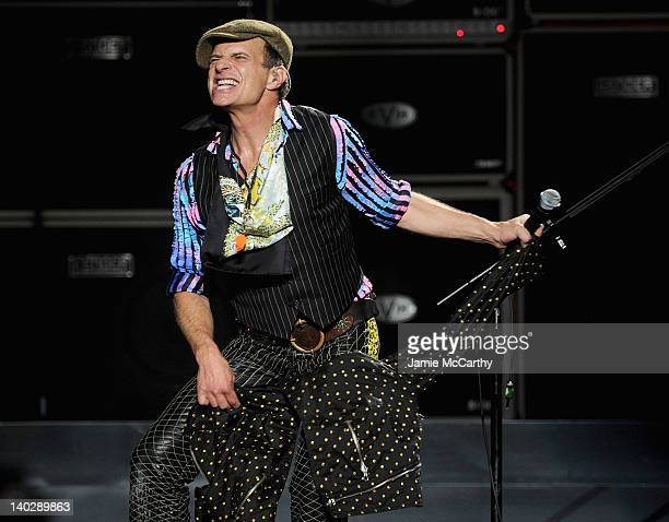 David Lee Roth of Van Halen performs at Madison Square Garden on March 1 2012 in New York City