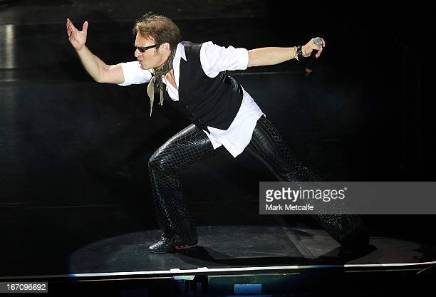 David Lee Roth of Van Halen performs on stage during 2013 STONE Music Festival at ANZ Stadium on April 20 2013 in Sydney Australia