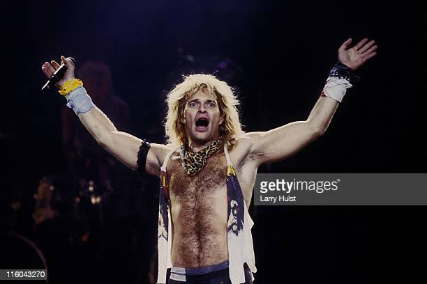 David Lee Roth playing in 'David Lee Roth band' performing at Cal Expo in Sacramento California on June 14 1988