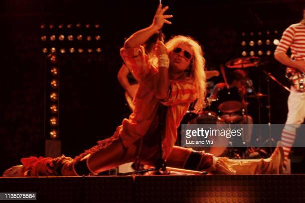 David Lee Roth, vocalist of hard rock band Van Halen, Rome, Italy, 1982.