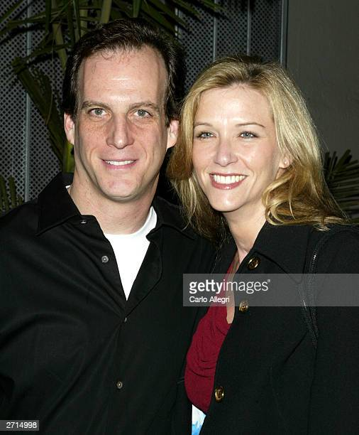 David Leiman and Maria Crenna arrive at a party to celebrate the 100th episode at White Lotus November 8 2003 in Los Angeles Judging Amy is broadcast...