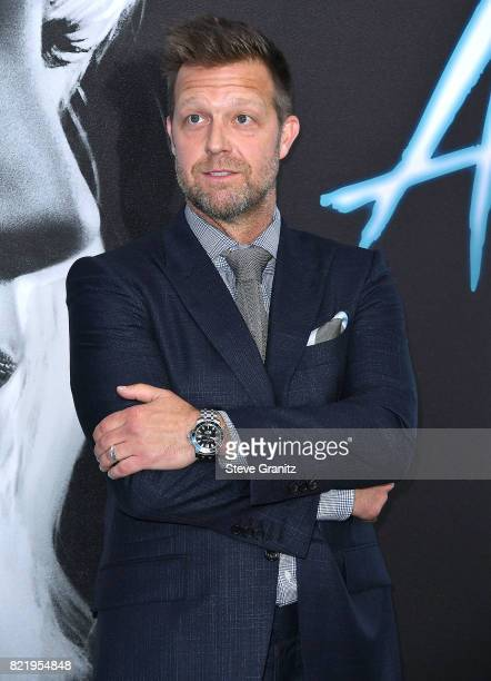 David Leitch arrives at the Premiere Of Focus Features' 'Atomic Blonde' at The Theatre at Ace Hotel on July 24 2017 in Los Angeles California