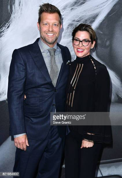 David Leitch Kelly McCormick arrives at the Premiere Of Focus Features' 'Atomic Blonde' at The Theatre at Ace Hotel on July 24 2017 in Los Angeles...