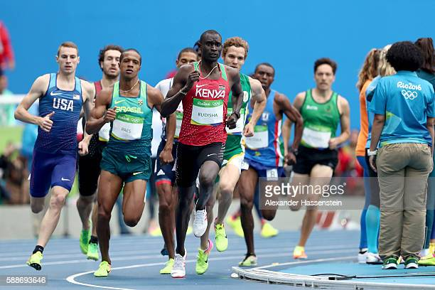 David Lekuta Rudisha of Kenya competes in round one of the Men's 800 metres on Day 7 of the Rio 2016 Olympic Games at the Olympic Stadium on August...