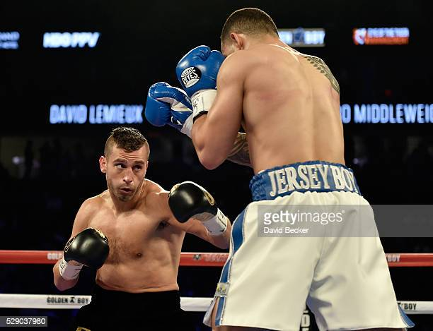 David Lemieux looks to punch Glen Tapia during the NABO middleweight title fight at TMobile Arena on May 7 2016 in Las Vegas Nevada