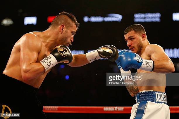 David Lemieux throws a left at Glen Tapia during the NABO middleweight title fight at TMobile Arena on May 7 2016 in Las Vegas Nevada