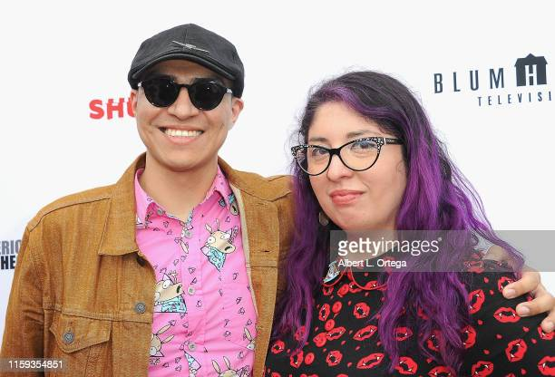 David Leopoldo Gonzalez and Edda Manriquez attend the 6th Annual Etheria Film Showcase held at American Cinematheque's Egyptian Theatre on June 29...