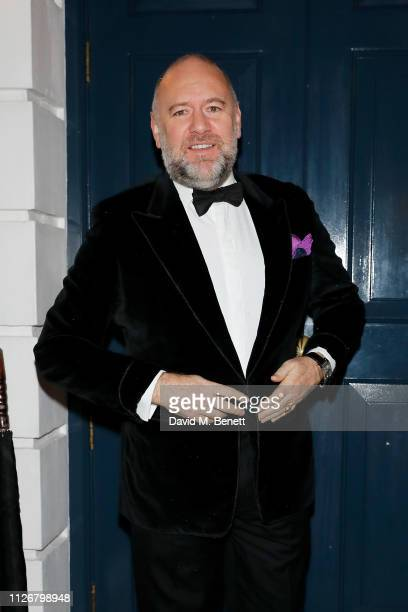 David Leppan attends the SGC Wine circle Dinner extravaganza at Oswald's organized by Arnaud Christiaens on February 01 2019 in London England