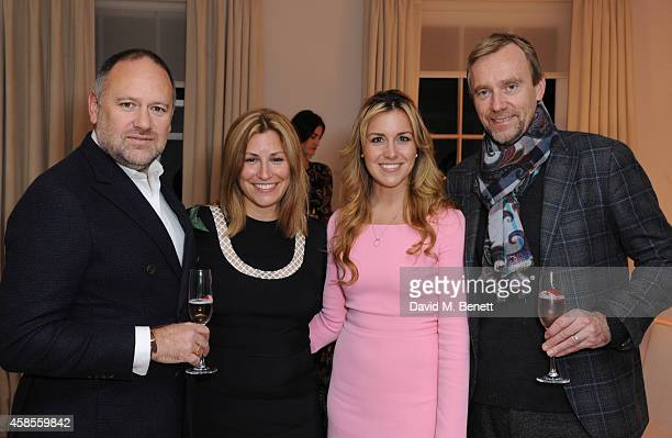 David Leppan Donna Simonelli Courtney Andresen and Phillippe Kjellgren attend Moda Operandi hosted by HONOR designer Giovanna Randall on November 6...