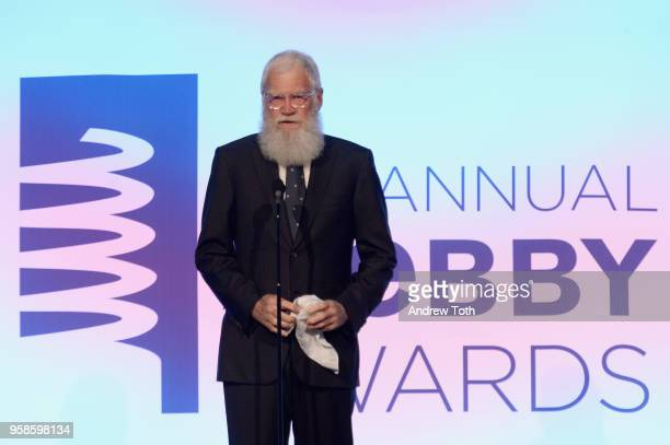 David Letterman accepts award onstage at The 22nd Annual Webby Awards at Cipriani Wall Street on May 14 2018 in New York City