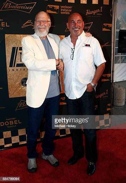 David Letterman and Bobby Rahal are seen at the Maxim Indy 500 Party on May 27 2016 in Indianapolis Indiana