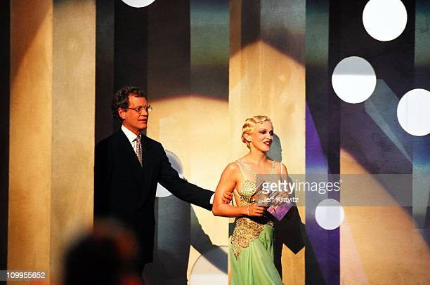 David Letterman and Madonna during 1994 MTV Video Music Awards at Radio City Music Hall in New York City New York United States