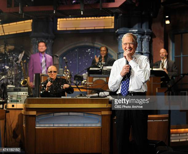 David Letterman and Paul Shaffer after the final taping of the Late Show with David Letterman Wednesday May 20 2015 on the CBS Television Network...
