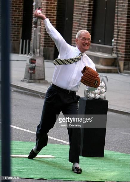"""David Letterman during Billy Crystal, Joe Torre and Johnny Damon Visit the """"Late Show with David Letterman"""" - April 10, 2006 at Ed Sullivan Theatre..."""