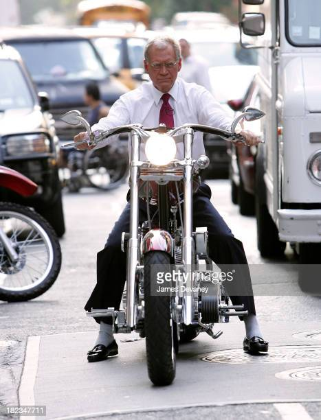 David Letterman during Scarlett Johansson and Mikey Teutul Paul Teutul Sr and Paul Teutul Jr of American Chopper Stop by The Late Show with David...