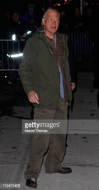 David Letterman host of The Late Show with David Letterman is seen outside the Ed Sullivan Theater on January 13 2009 in New York City