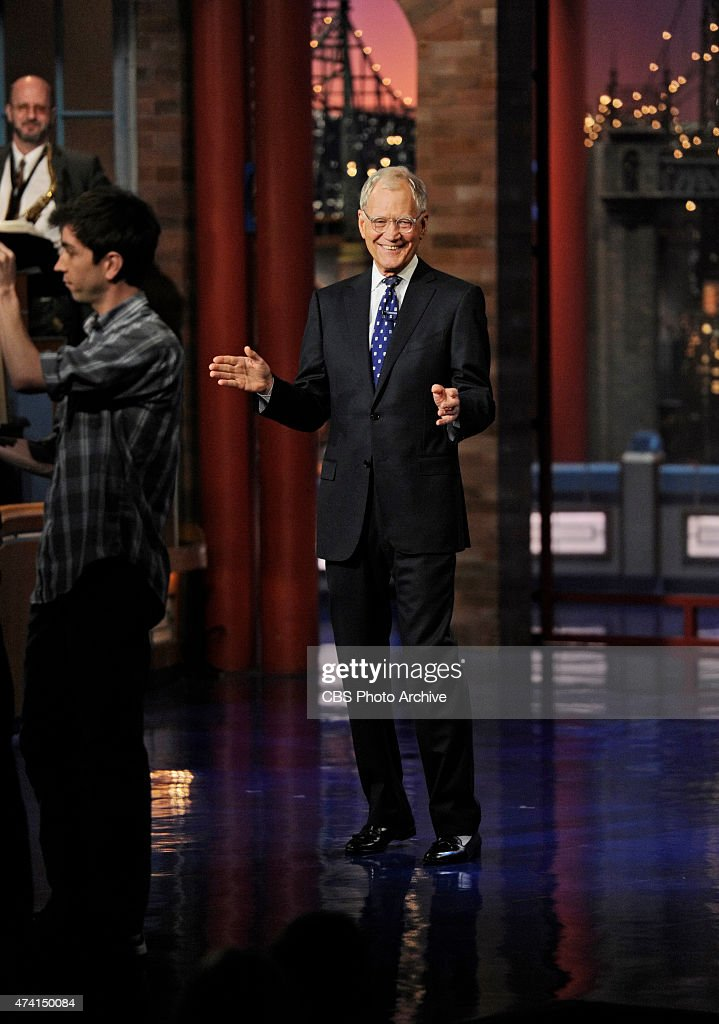 David Letterman hosts his final broadcast of the Late Show with David Letterman, Wednesday May 20, 2015 on the CBS Television Network. After 33 years in late night television, 6,028 broadcasts, nearly 20,000 total guest appearances, 16 Emmy Awards and more than 4,600 career Top Ten Lists, David Letterman says goodbye to late night television audiences. The show was taped Wednesday at the Ed Sullivan Theater in New York.