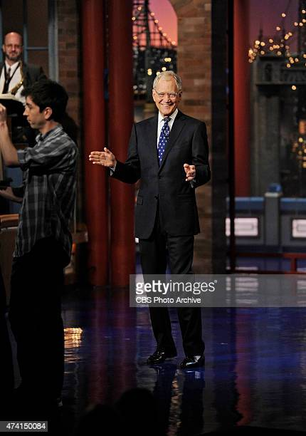 David Letterman hosts his final broadcast of the Late Show with David Letterman Wednesday May 20 2015 on the CBS Television Network After 33 years in...