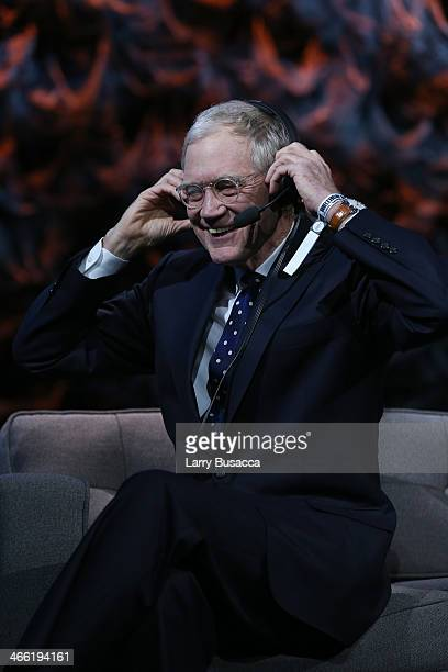 David Letterman performs at 'Howard Stern's Birthday Bash' presented by SiriusXM produced by Howard Stern Productions at Hammerstein Ballroom on...