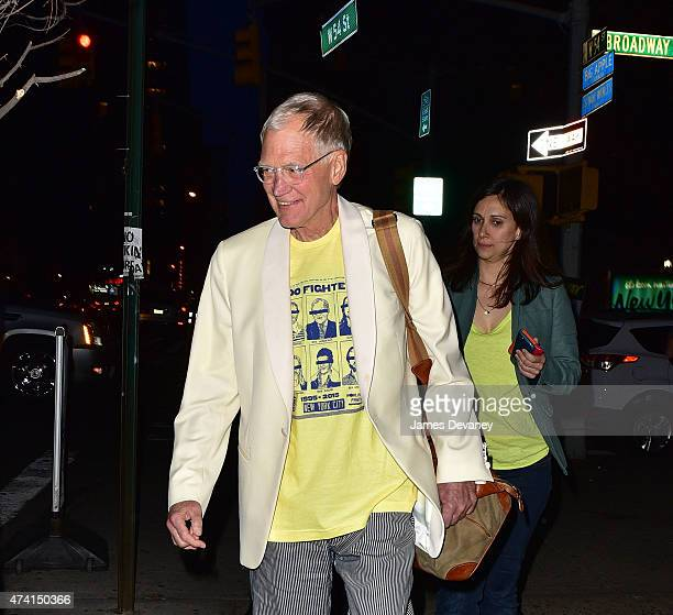 David Letterman seen leaving the Ed Sullivan Theater on May 20 2015 in New York City