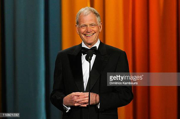 David Letterman speaks onstage at the First Annual Comedy Awards at Hammerstein Ballroom on March 26 2011 in New York City