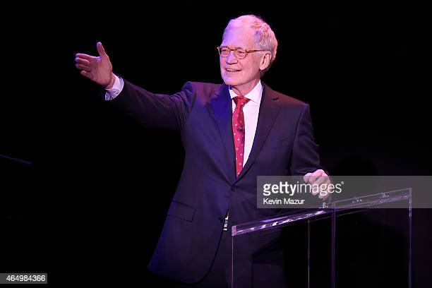 David Letterman speaks onstage during SeriousFun Children's Network 2015 New York Gala An Evening Of SeriousFun Celebrating the Legacy Of Paul Newman...