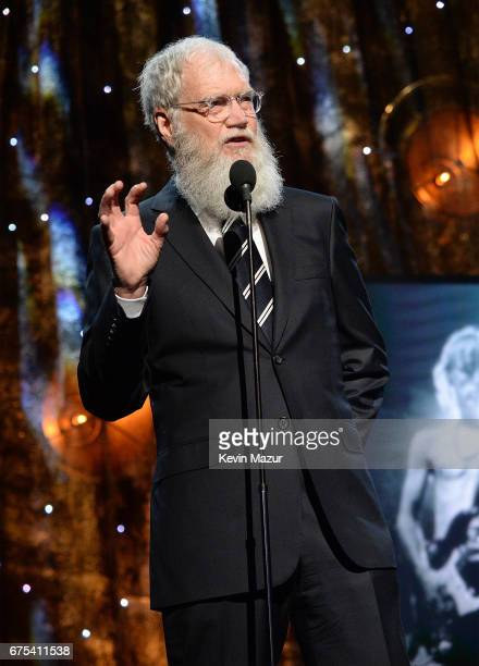 David Letterman speaks onstage during the 32nd Annual Rock Roll Hall Of Fame Induction Ceremony at Barclays Center on April 7 2017 in New York City...