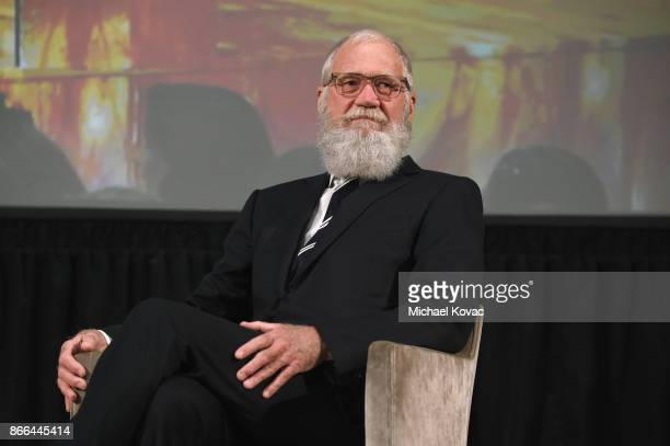 David Letterman speaks onstage The Streicker Center hosts a Special Evening with Former First Lady Michelle Obama at The Streicker Center on October...