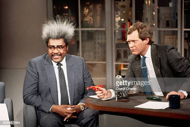 David Letterman with Toy Dart Gun and Guest Don King